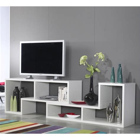 stewart bookcase tv stand in white 7154149