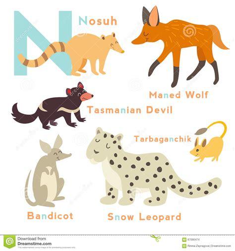 letter animals set english alphabet vector