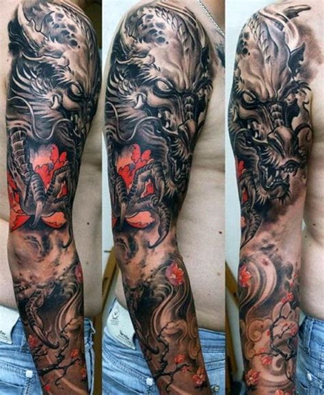 collection of 25 half sleeve asian dragon tattoo design
