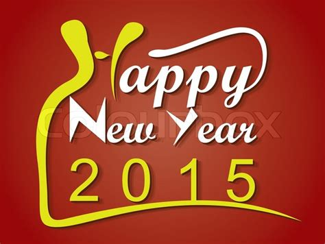 new year card design 2015 happy new year 2015 creative greeting card design stock