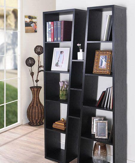 walnut slanting reversible bookshelf zulily cute