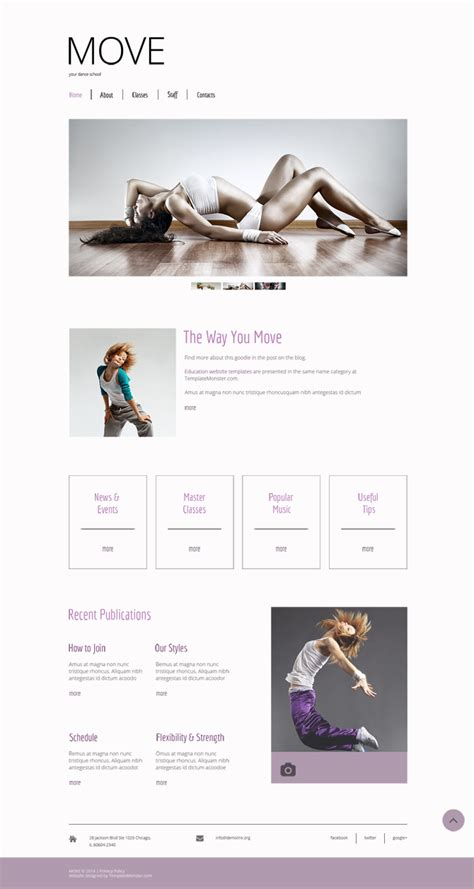 Free Dance Studio Website Template Free Templates Online Studio Website Template