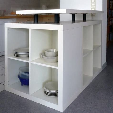 Kitchen Unit Hacks Ikea Expedit Shelving Unit L Shaped Kitchen Island Ikea