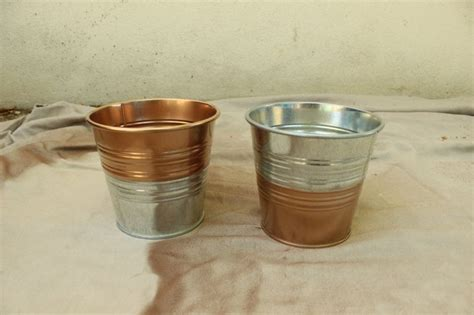 ikea hack diy copper galvanized planter pots