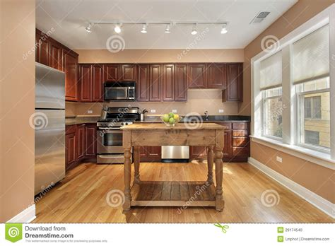 kitchen with center island stock photo image 29174540