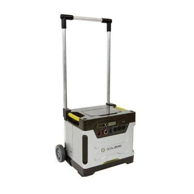 goal zero yeti 1250 watt solar generator with roll cart