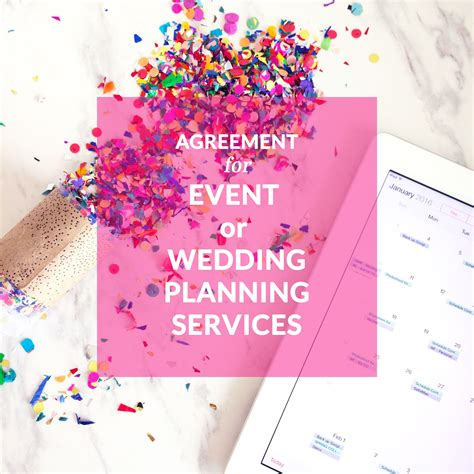 Free Event Planning Flyer Templates agreement for event or wedding planning services event