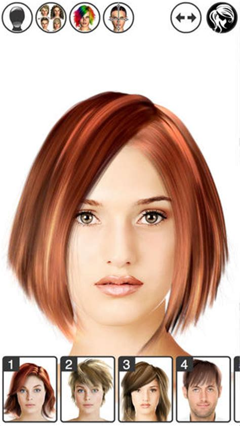 hairstyles app online hairstyle magic mirror change your look lite on the app store