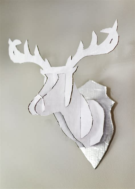 cardboard deer template cardoard deer 9 diy faux taxidermy craft projects that