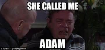 Adam Meme - eastenders fans post memes after jo joyner s faux pas
