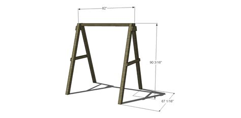 swing a frame plans free diy furniture plans how to build a swing a frame