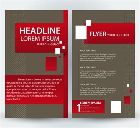 flyer template design with classical style free vector in
