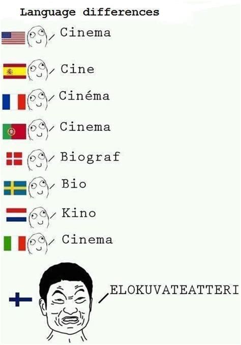 Finnish Language Meme - finnish language differences compared to other languages 1 suomi finland pinterest