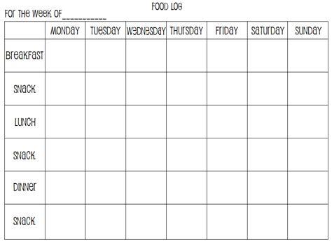 printable weekly journal weekly food log printables by me amy w c pinterest