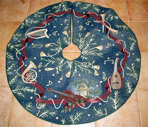 celebrate christmas 44 quot tapestry tree skirt tree skirts