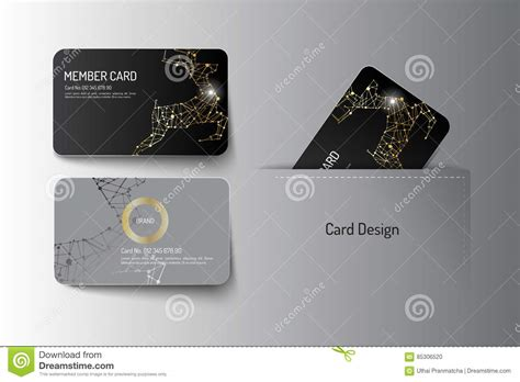 platinum membership card template vip card template with logo and abstract vector