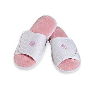Shower Shoes Bed Bath And Beyond Aloe Slippers In Pink Bed Bath Amp Beyond