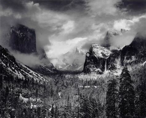 ansel adams (1902 1984) , clearing winter storm, c. 1944