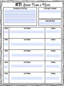 reading intervention lesson plan template rti notebook ashleigh s education journey