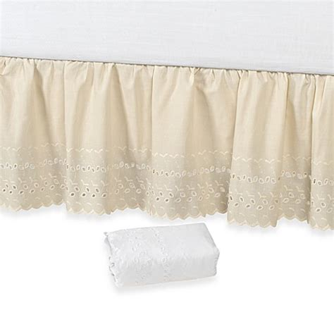 bed skirts bed bath and beyond vintage chic eyelet 14 inch bed skirt bed bath beyond