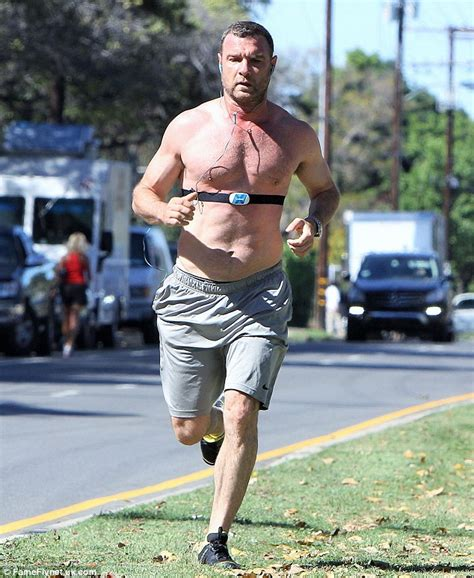 Simon S Morning Guide Simon S Highs liev schreiber shows his hunky physique on a run in