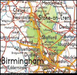 map of staffordshire city picture united kingdom map