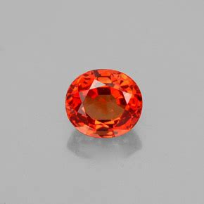 Orange Sapphire 5 35ct sapphire 1 4 carat oval from tanzania songea gemstone