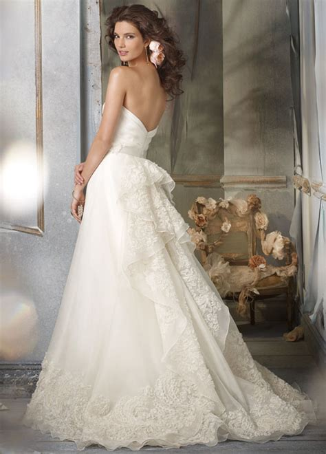 2016 romantic a line organza wedding dresses