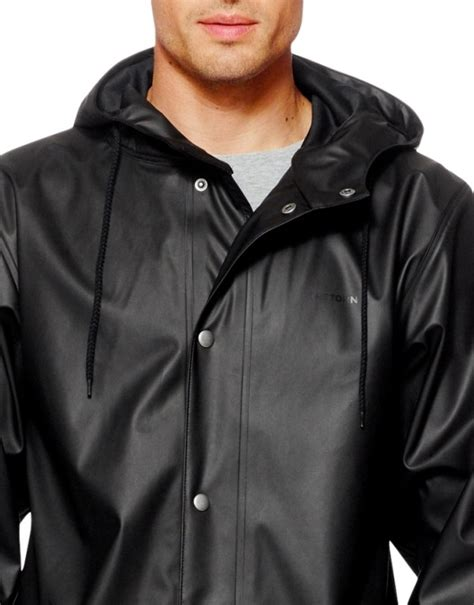 jacket design for unisex tretorn wings black rain jacket raincoat unisex