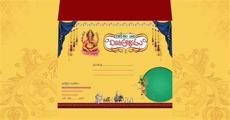 hindu invitation card template indian wedding card invitation psd templates free