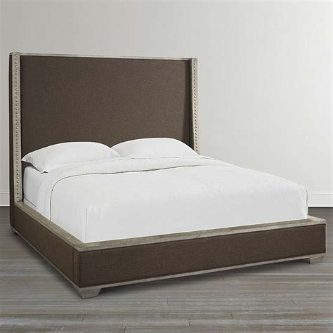 bassett upholstered beds upholstered bed knotty oak veneer bassett home furnishings