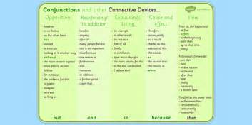 connective words list conjunctions and connectives