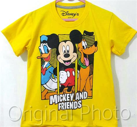 Kaos And Friends kaos anak mickey n friends kuning 1 6 disneys grosir