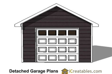 mayfield 1 car garage plans 16x20 1 car 1 door detached garage plans