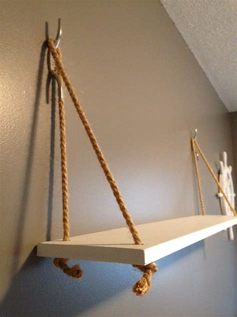 hanging selves nautical house whale nursery theme decor hanging shelf