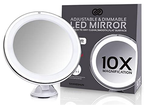 sanheshun 7x magnifying lighted travel makeup mirror sanheshun 10x magnifying lighted travel makeup mirror