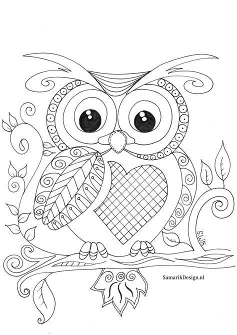 coloring book pages of owls 08c331f15e1b130a6beca4c243f21c8a jpg 2480 215 3507