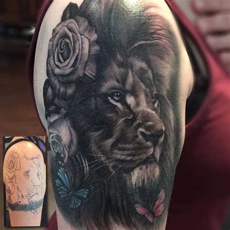 lion cover up tattoo lou bragg on quot finished this cover up today