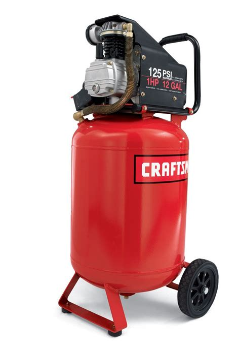 craftsman 12 gallon portable vertical air compressor with hose and accessory kit shop your way