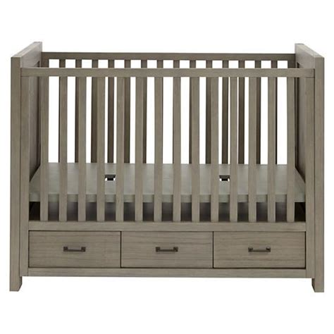 Cribs With Storage keepsake baby crib with storage greywash the land of nod