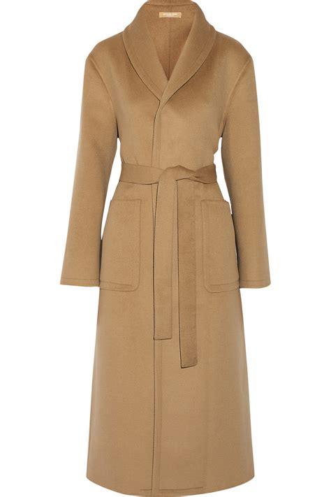 michael michael kors coat michael kors wool angora and cashgora blend coat in beige