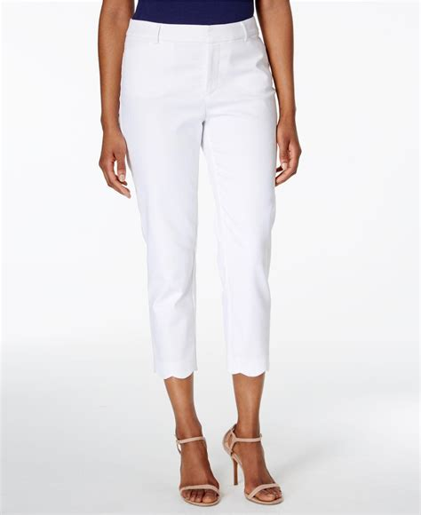 Bs Scallop Pant 1 lyst charter club scalloped hem in white