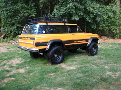 classic jeep wagoneer lifted 1977 jeep cherokee chief sport wide track 4x4 restored