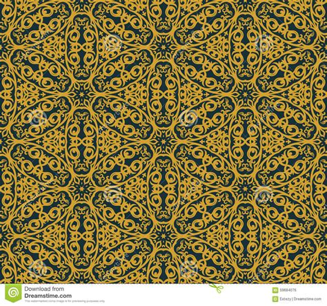 gold arabic pattern seamless background in arabic style stock vector image