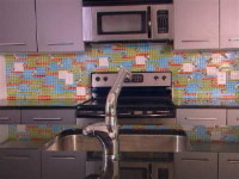 how to create a tin tile backsplash hgtv how to create a colorful glass tile backsplash hgtv