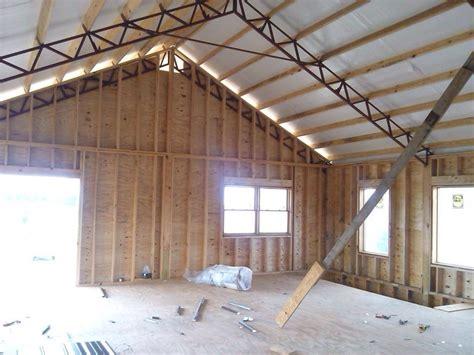 metal roof on pole barn