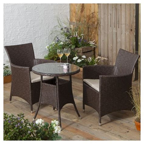 Tesco Bistro Chairs Buy Rattan Garden Bistro Set Brown From Our Rattan Garden Furniture Range Tesco
