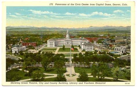 colorado denver birds eye view from capitol dome 1930s