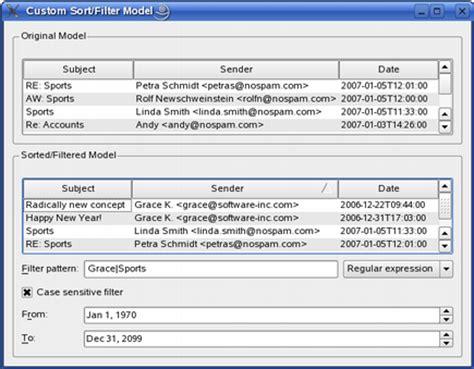 qt 4 8 basic sort filter model exle part 3 custom sort filter model exle qt 4 8