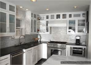 kitchen backsplash with white cabinets glass marble mixed white kitchen backsplash tile this